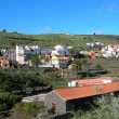 Canarian village in La Gomera, Spain - Stock Photo