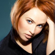 Stock Photo: Tender red-haired woman