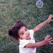 Toddler Girl Bubbles — Stock Photo