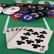 Royal Flush Clubs — Stock Photo