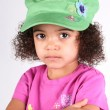 Girl in Green Hat — Stock Photo #2340100