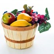 Basket containing fruit - Stock Photo