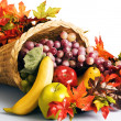Cornucopia the horn of plenty — Stockfoto