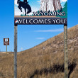 Wyoming welcome sign — Stock Photo