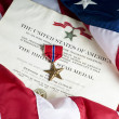 Stock Photo: American Army Bronze Star for heroism