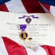Purple Heart medal — Stock Photo