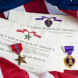Purple Heart and Bronze Star — Stock Photo
