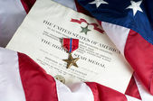 American Army Bronze Star for heroism — Stock Photo