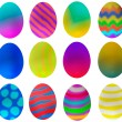One dozen eggs decorated for Easter — Stock Photo #2101817
