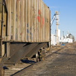 Stock Photo: Rusty old railcar on siding