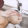 Washing hands with soap — Stock Photo #2104363