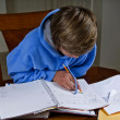Teenager doing homework — Stok fotoğraf
