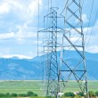 Stock Photo: High Voltage towers and mountains