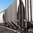 Empty railcars sitting on a rail siding — Stock Photo