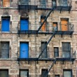 Boarded-up Tenement Building — Stock Photo