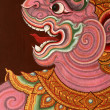 Buddhist temple paintings in bangkok - Stock Photo