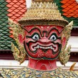 Temple guardian in bangkok - Stock Photo