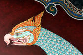 Buddhist temple paintings in bangkok — Stock Photo