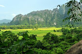 The landscape of vang vieng,laos — Stock Photo