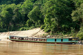 Boat at the mekong river — Stock Photo