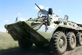 Russian armored personnel carrier — Stock Photo