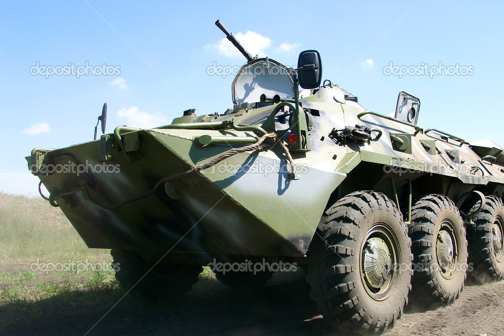 The main Russian armored personnel carrier — Stock Photo #2375901