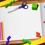 3d 剪纸桌面背景 — 图库矢量图片