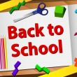 Back to School Desk - Stock Vector