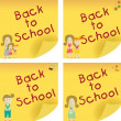 Back to School Sticky Note — Stock Vector