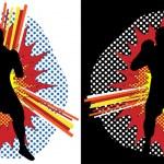 拳击手流行艺术 — 图库矢量图片