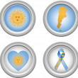 Royalty-Free Stock Imagen vectorial: Buttons Argentina