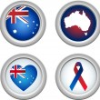 Australia Buttons — Stock Vector