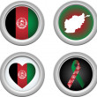 Buttons Afeghanistan - Stock Vector