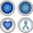 Royalty-Free Stock Vector Image: Europe Buttons