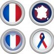 France Buttons - Stock Vector