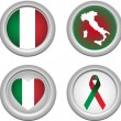 Stock Vector: Italy Buttons