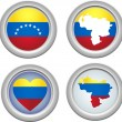 Venezuela Buttons - Stock Vector