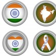 India Buttons - Stock Vector