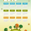 Royalty-Free Stock Vectorafbeeldingen: Calendar 2010 Environmental retro planet