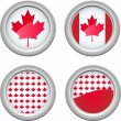 Canada Buttons — Stock Vector