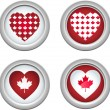 Canada Buttons3 - Stock Vector