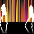 Royalty-Free Stock Vector Image: Catwalk Stripes