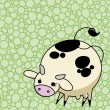 Cute vector Cow - Stock Vector