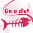 Fish bones diet — Image vectorielle