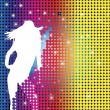 silhouette de party girl — Image vectorielle