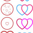 Stock Vector: Hearts made of dots
