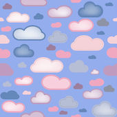 Clouds Seamless Background — Stock Vector