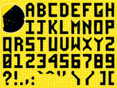 Doodle Hand Made Alphabet — Stock Vector