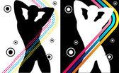 Boy Party Stripes — Stock Vector