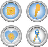 Buttons Argentina — Stock Vector